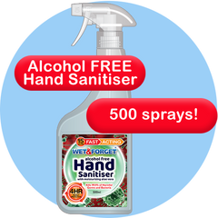 Wet & Forget Hand Sanitiser is Alcohol Free