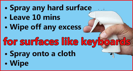 Just spray and wipe your hard surfaces
