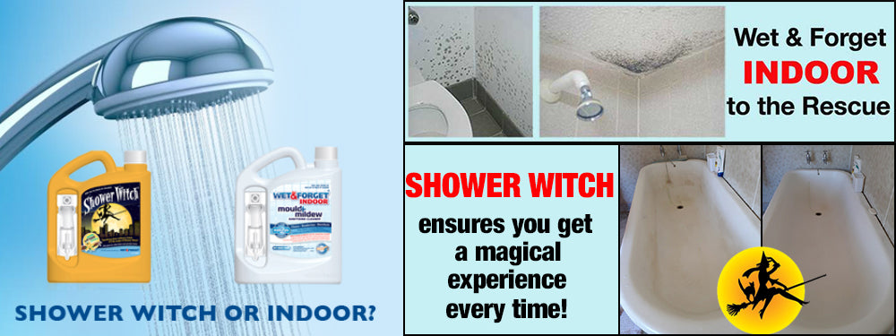 Choose Indoor Mould Remover or Shower Witch for Better Bathroom Cleaning