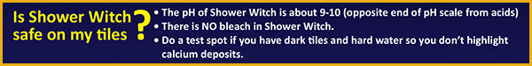 Is Shower Witch Safe on My Tiles
