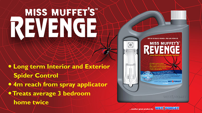 Miss Muffet's Revenge Deals to Unwanted Spiders
