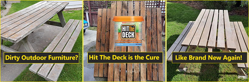 Clean Outdoor Furniture with Hit The Deck