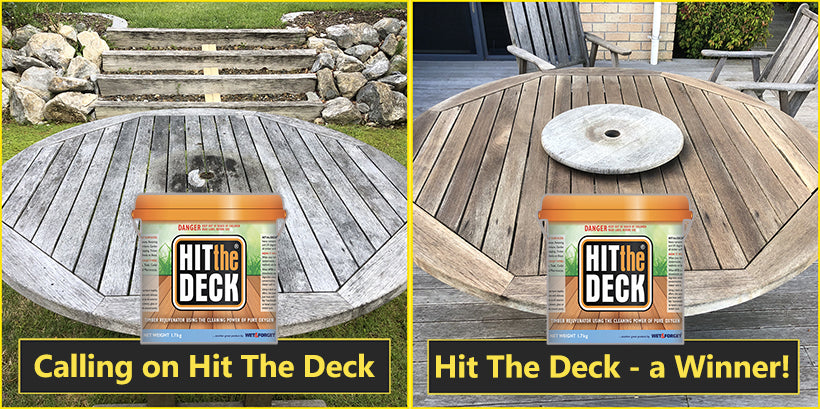 Clean Mould or Mildew Off Outdoor Furniture with Hit The Deck
