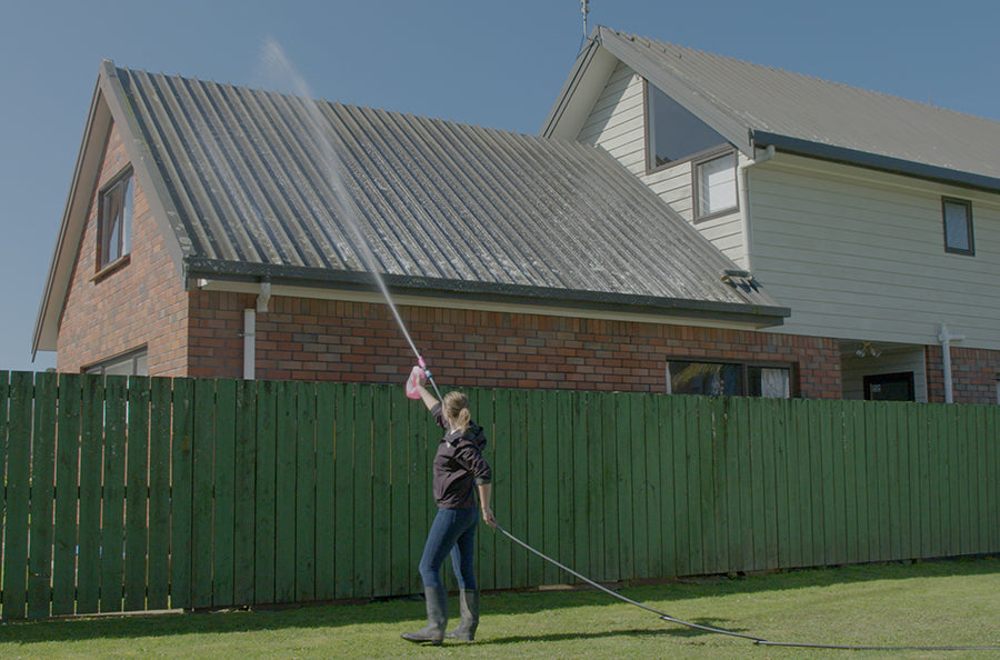 Cleaning Your Roof Without Stepping on it Just Got Easier
