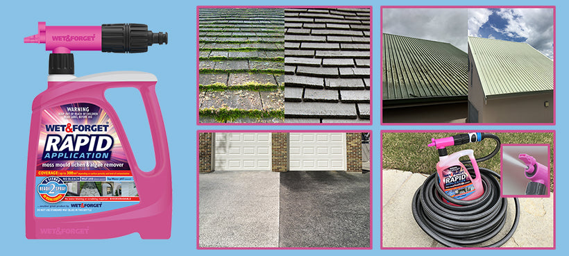 Rapid Application is a fast way to Spray to Get Rid of Moss Mould and Lichen