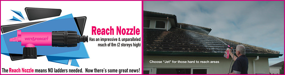 Roof Cleaning with Rapid Application Reach Nozzle