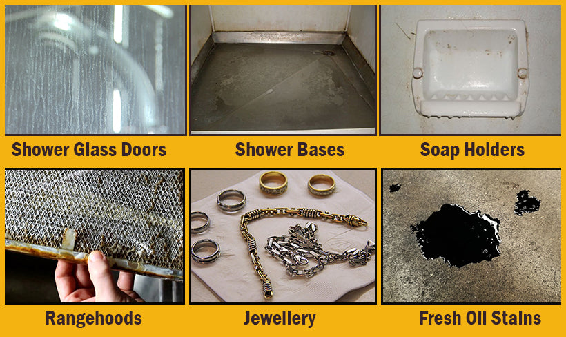 So many ways to use Shower Witch to degrease dirty surfaces