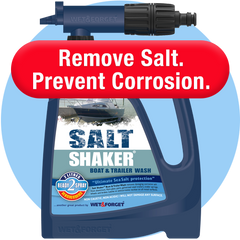 Salt Shaker Boat and Trailer Wash to Prevent Salt Corrosion
