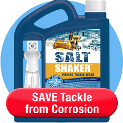 Salt Shaker Tackle Wash to Prevent Corrosion