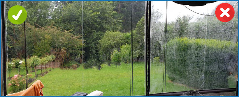 See the Difference When You Use Window Witch Exterior Window Cleaner