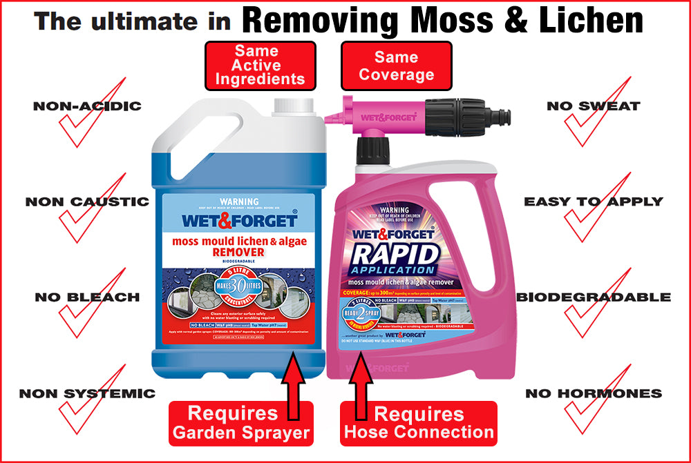 Remove Moss and Lichen From Your Roof with Wet & Forget Products