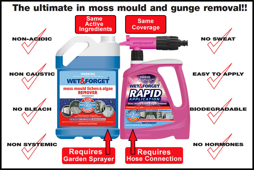 Wet and Forget and Rapid Application Do the Same Job for Lichen Removal