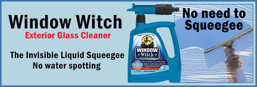 Window Witch is the 'NO Squeegee' Exterior Window Cleaner