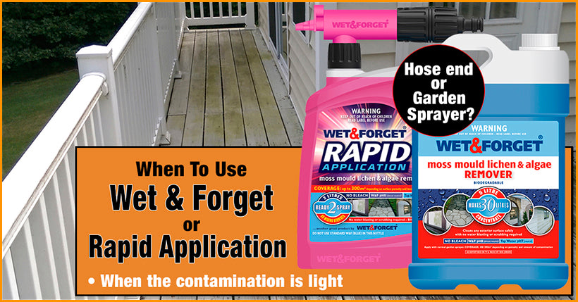Cleaning Decks is Easy with Wet and Forget Products