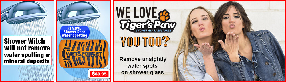 Tiger's Paw is the Best Option to Remove Water Spotting Caused By Calcium Deposits