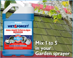Mix Wet and Forget 1 to 5 in a Garden Sprayer