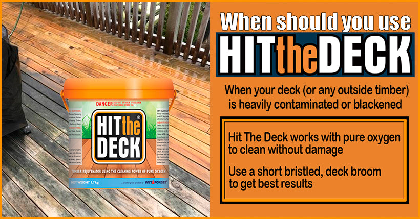 Hit The Deck is Best For Really Dirty or Blackened Decks