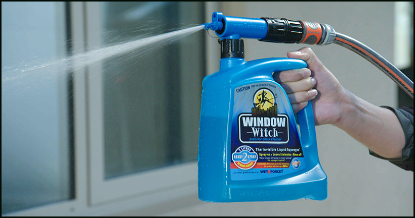 Window Witch has a Reach Nozzle That Sprays up to Heights of 8m