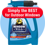 Window Witch Exterior Window Cleaner. No Squeegee Needed