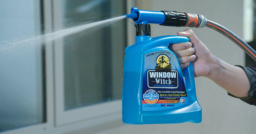 Window Witch uses a Specialised Nozzle to get the Product on