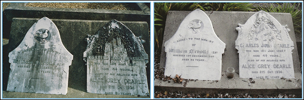 Cleaning Moss Mould and Lichen Off Headstones and Graves - is a Job for Wet & Forget