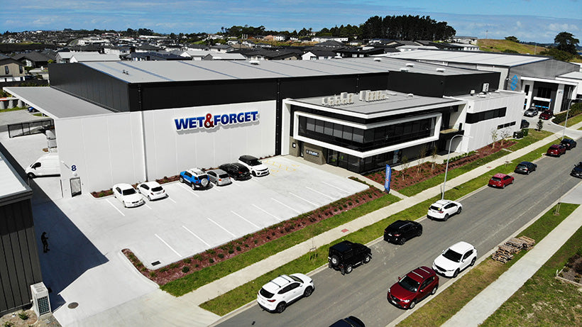Wet & Forget has a new factory and shop in Silverdale