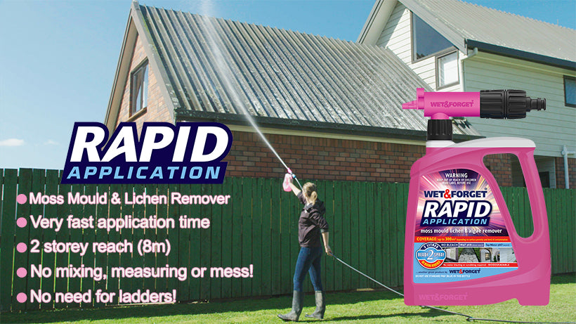 Rapid Application is Best for Removing Moss Mould & Lichen