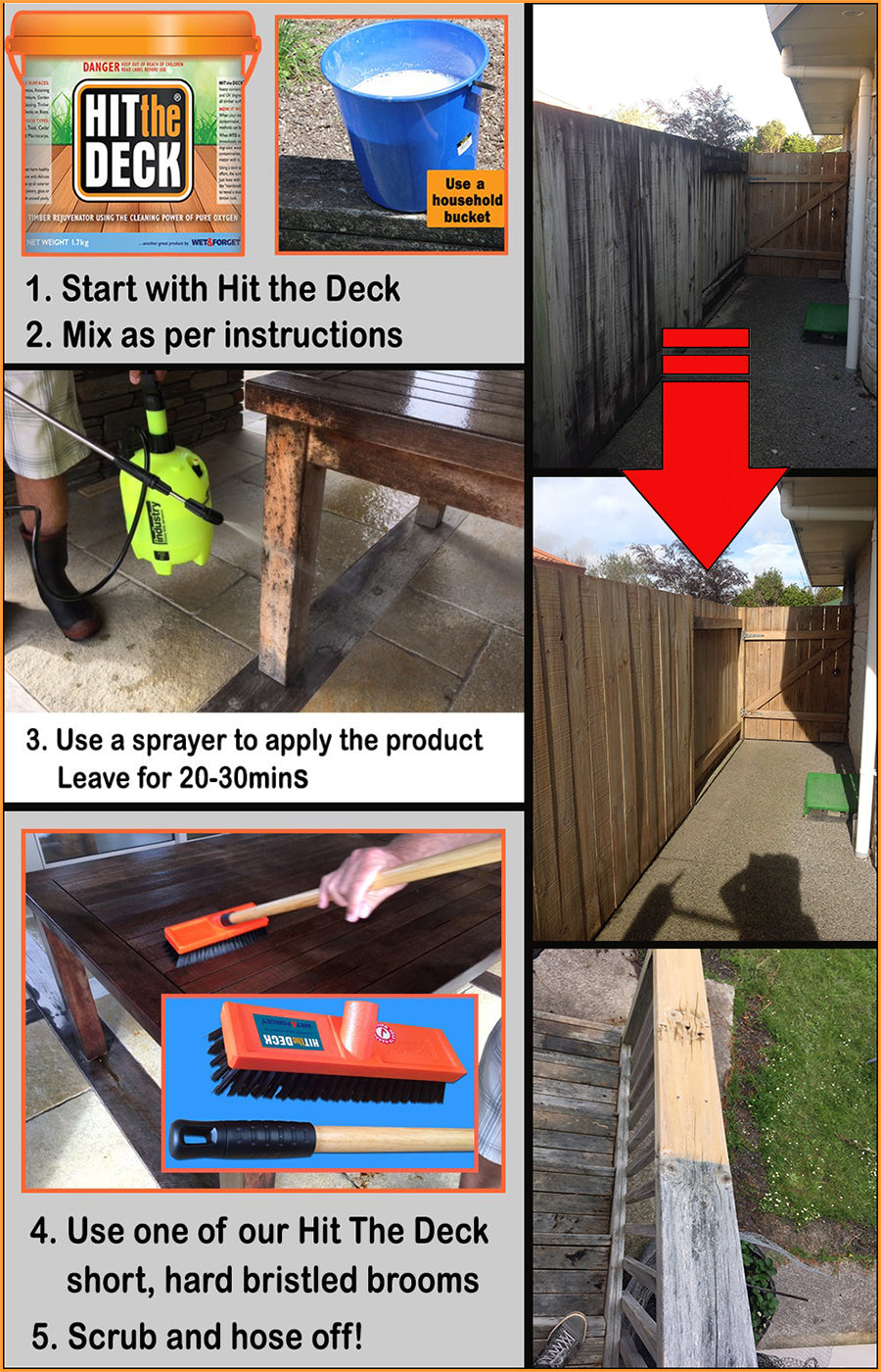 'Hit The Deck' Deck Cleaner  - So Easy To Use