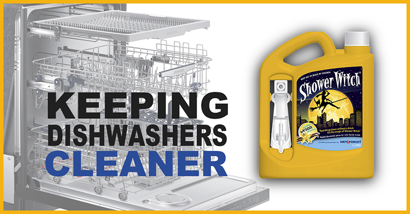 Clean Your Dishwasher with Shower Witch