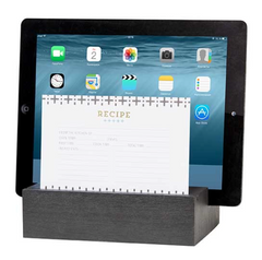 Black Recipe & Tablet Holder