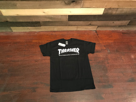 3de21602 Thrasher Magazine Skate Mag Black White Men's Short Sleeve T-Shirt