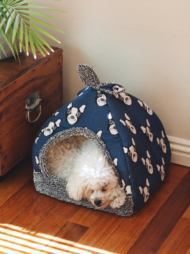 Dome Fleece Cave Dog Bed
