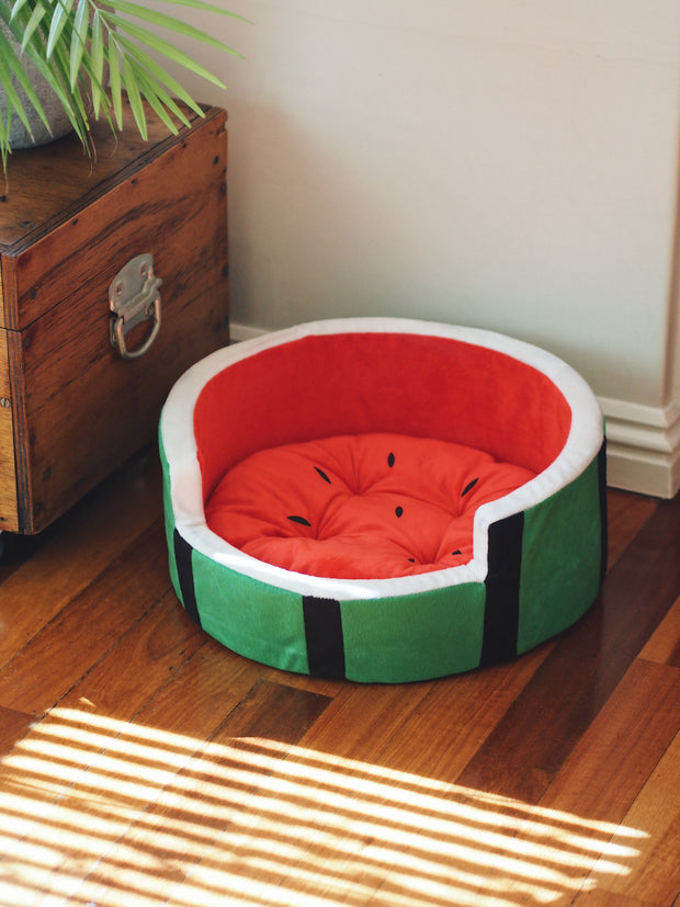 Watermelon Slice Dog Bed