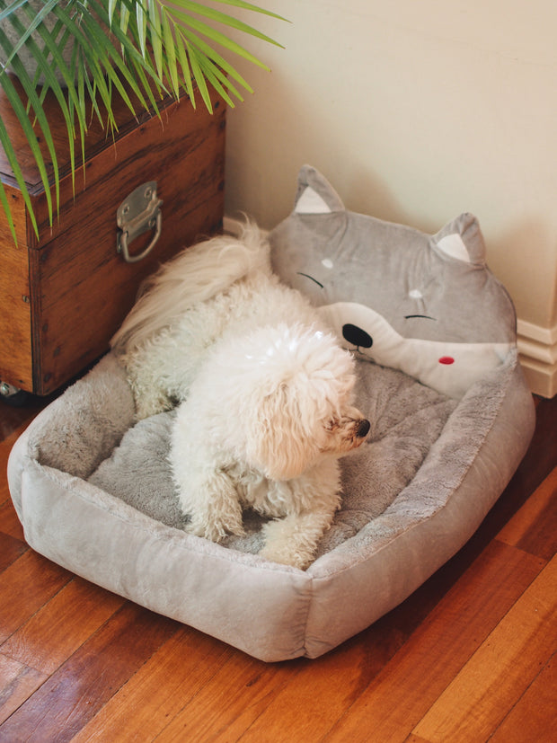 3D Doghead Dog Bed