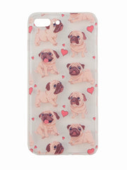 Adorable pug dog lovers iphone case