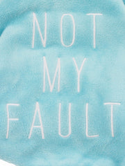 Not my fault dog pyjama onesie