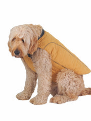 Cosy Warm Quilted Dog Coat and Jacket in mustard