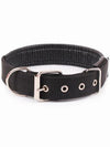 Black online nylon dog collar