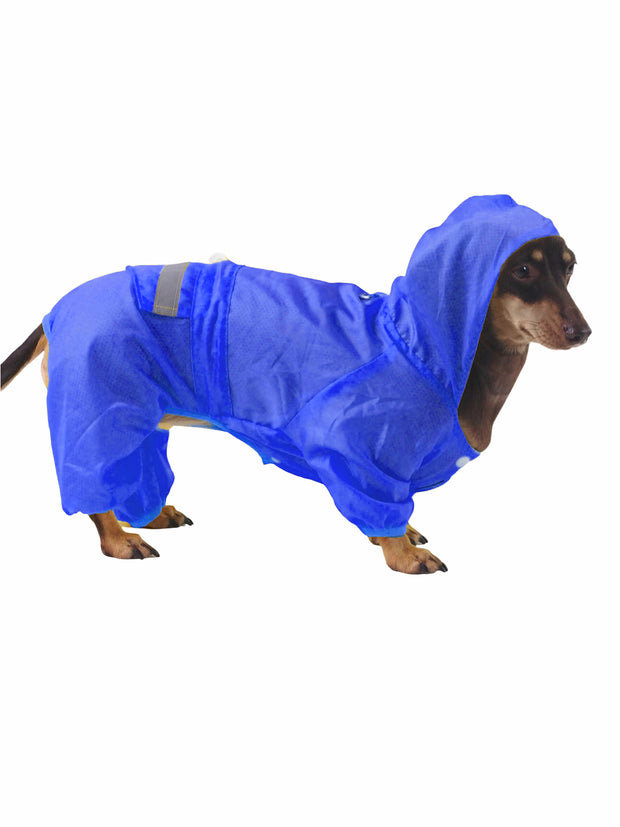 Polyester breathable dog raincoat and rainjacket