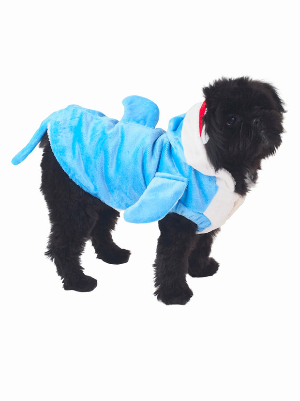 Great white shark dog costume
