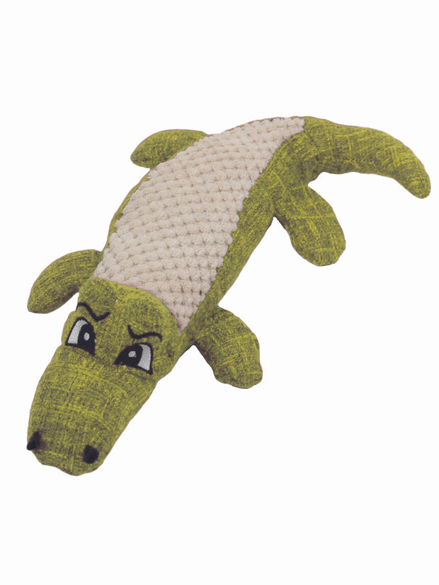 Affordable online plush alligator dog toy