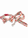 aloha floral dog bow tie and lead set