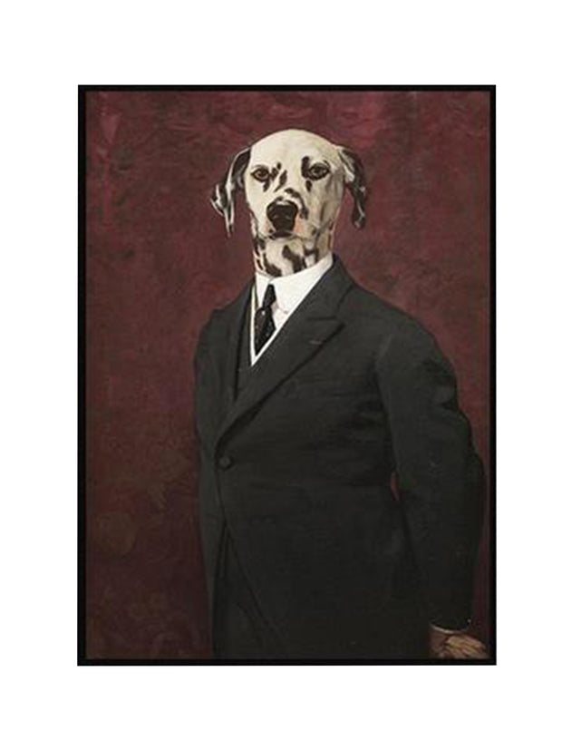 17th Century Retro Dog Dalmation Canvas Prints