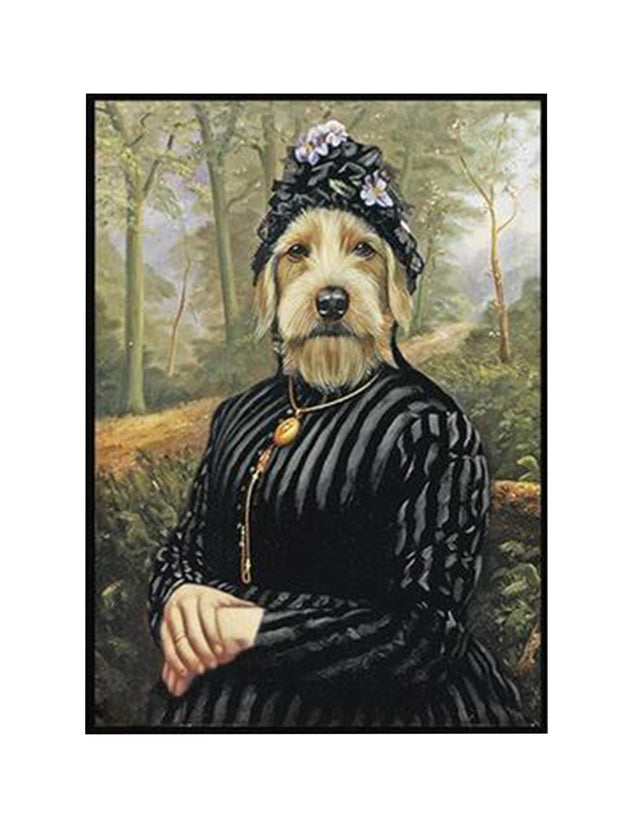 Funny groodle dog canvas art print