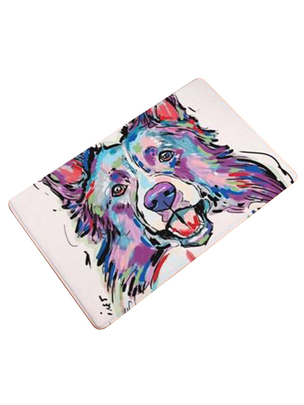 Border collie welcome mat or bed