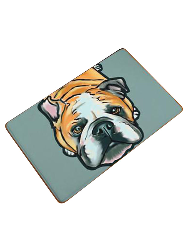 English bulldog welcome mat or bed