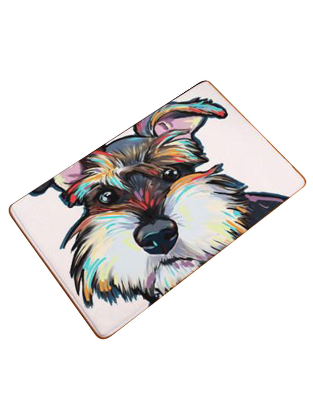 Schnauzer welcome mat or bed