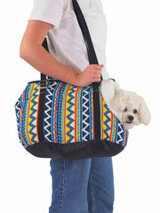 Warm winter plush dog carry bag