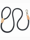 black strong nylon dog lead