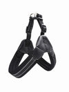 black nylon padded dog harness